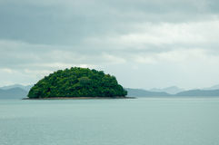 The Islet in the Bay on a Rainy Day Royalty Free Stock Photo