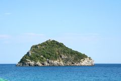 Islet of Bergeggi stock photo