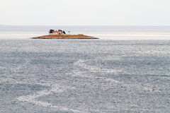 Islet, Church and Ocean Stock Photos