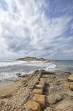 The Islet of currents in Sicily Stock Image