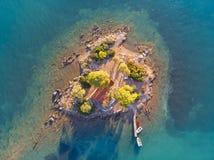 Islet Daskalio At Poros Island, Greece Royalty Free Stock Photo
