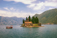 Islet of St. George. Bay of Kotor, Montenegro Stock Images
