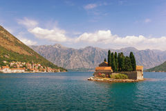 Islet of St. George. Bay of Kotor, Montenegro Royalty Free Stock Photography