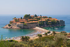 Islet of Sveti Stefan Stock Images