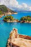 The Islet of Virgin Mary, Parga, Greece Stock Photography