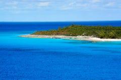 Isleta de la media luna, Bahamas Fotos de archivo