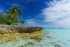 Isleta de la tortuga verde, Bahamas Imagenes de archivo