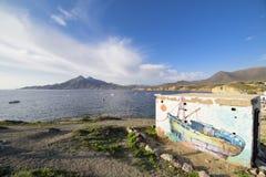 Isleta del moro in Cabo DE Gata royalty-vrije stock afbeeldingen