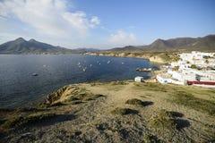 Isleta del moro in Cabo DE Gata stock afbeeldingen