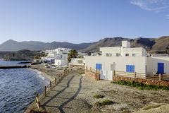 Isleta del moro, cabo de gata, andalusia, spain, europe, the village Royalty Free Stock Photos