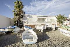 Isleta del moro, cabo de gata, andalusia, spain, europe, the village Royalty Free Stock Images