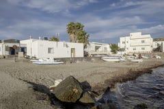 Isleta del moro, cabo DE gata, andalusia, Spanje, Europa, het dorp royalty-vrije stock foto's