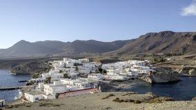 Isleta del moro, cabo DE gata, andalusia, Spanje, Europa, het dorp royalty-vrije stock foto