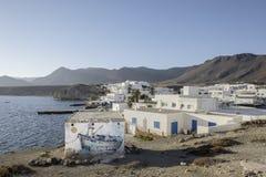 Isleta del moro, cabo DE gata, andalusia, Spanje, Europa, het dorp royalty-vrije stock afbeelding