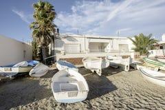 Isleta del moro, cabo DE gata, andalusia, Spanje, Europa, het dorp royalty-vrije stock afbeeldingen