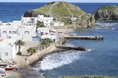 Isleta del Moro village in Cabo de Gata Royalty Free Stock Images