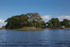 Isletas, little islands from Nicaragua lake Royalty Free Stock Photos