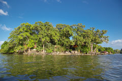 Isletas, little islands from Nicaragua lake royalty free stock images