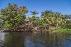 Isletas små öar från Nicaragua sjön arkivfoton