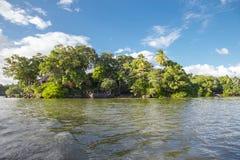 Isletas små öar från Nicaragua sjön arkivfoto
