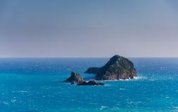 Islets of the coast of Corfu Greece.  Stock Photos