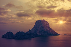 The islets of Es Vedra and Es Vedranell - Ibiza Royalty Free Stock Photography