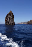 Islets and faraglioni of the Aeolian islands Stock Photography