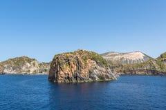 Islets and faraglioni near Vulcano island, Italy Stock Photography