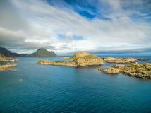 Islets on Lofoten coast Royalty Free Stock Images
