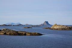 Islets on norwegian coast Royalty Free Stock Photos