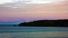 Isländischer bunter Sonnenuntergang Stockfotos