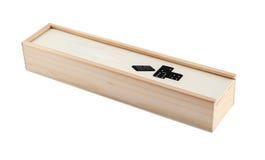 Islolated de domino houten doos op wit Royalty-vrije Stock Foto
