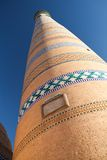 Islom Hoja Minaret in Khiva Stock Photo
