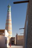 Islom Hoja Minaret in Khiva Stock Images