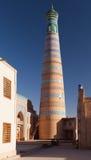 Islom hojan - Khiva - Xorazm省- Uzbekis 免版税库存图片