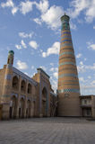 Islom Xoja complex in the city of Khiva. Uzbekistan Stock Photos