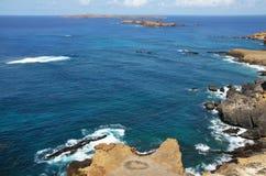 Islote de Djeu en el mar Imagenes de archivo