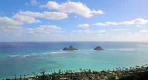 Islotes del Na Mokulua imagen de archivo libre de regalías