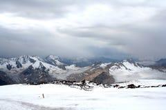 Islutning av Mount Elbrus Royaltyfria Foton