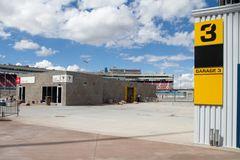 ISM Raceway - Phoenix Nascar and IndyCar. Phoenix ISM Raceway offered a sneak preview of it`s ongoing 178 million dollar upgrade project during Goodyear Monster royalty free stock photo