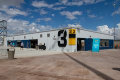 ISM Raceway - Phoenix Nascar and IndyCar. Phoenix ISM Raceway offered a sneak preview of it`s ongoing 178 million dollar upgrade project during Goodyear Monster stock photography
