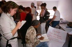 ISM ställa upp som frivillig i Palestina. arkivbild