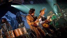 Ismo Alanko & Teho-osasto live on stage Stock Photos