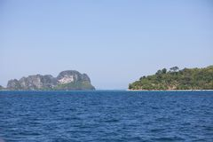 Isnland in the middle of the sea in Thailand Royalty Free Stock Images