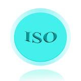 ISO аттестовал дизайн концепции значка или изображения символа с делом Стоковые Фотографии RF