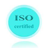 ISO аттестовал дизайн концепции значка или изображения символа с делом Стоковое фото RF