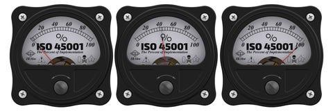 ISO 45001 Проценты вставки индикатор иллюстрация вектора