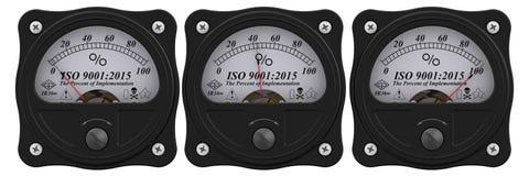 9001:2015 ISO Проценты вставки иллюстрация вектора