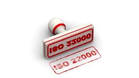 ISO 22000 Штемпель выходит отпечаток иллюстрация штока
