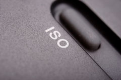 ISO. Lettering on a light meter Royalty Free Stock Photo
